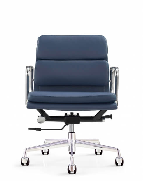 Front - Eames Style Royal Blue Chair