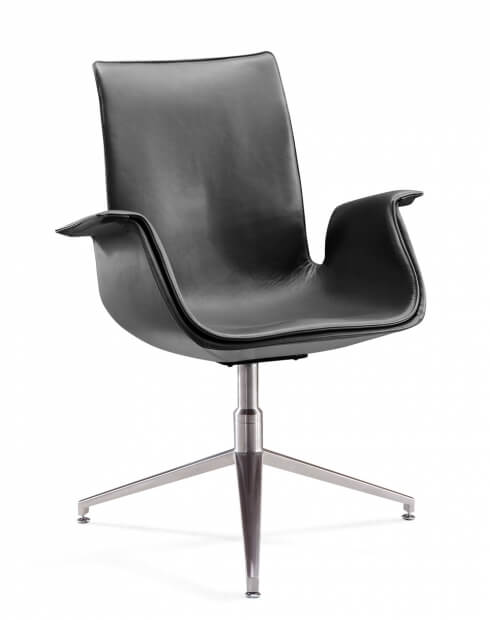 AK Signature Shadow Gray Designer Visitor Chair