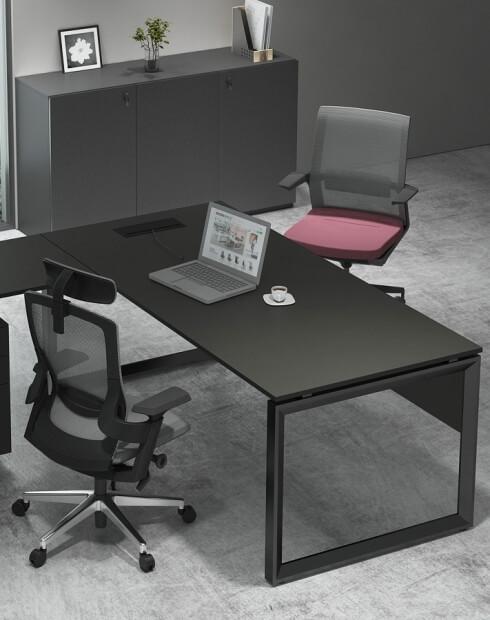 Inside - ATOM Black Super Matt L-Shape Desk