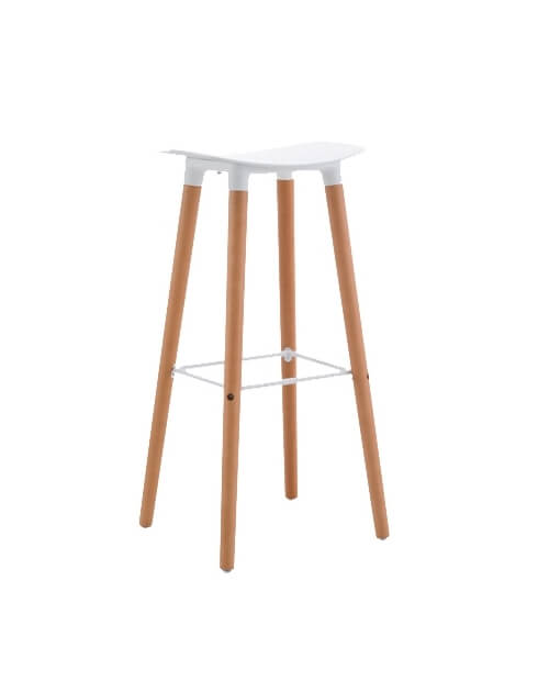 White - Title Modern Bar Stool