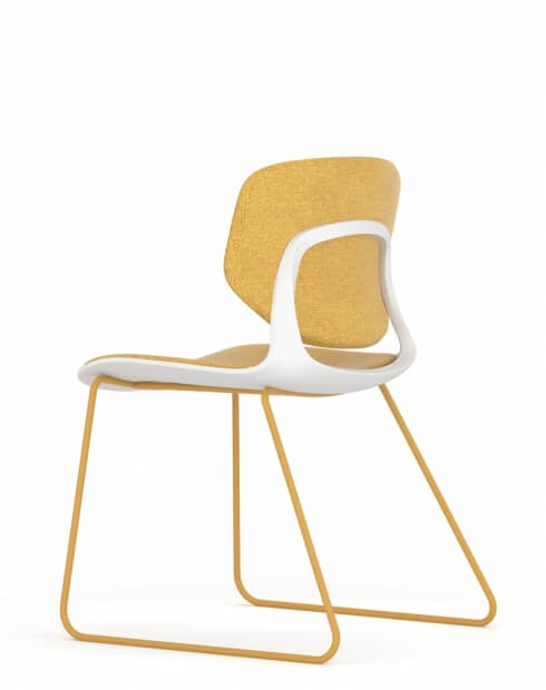 Melody Multi-Purpose Chair Yellow Upholstered Seat and Back