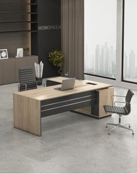 Levina L-Shape Manager Desk