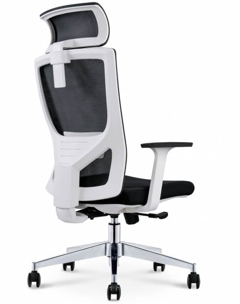 Back - Mann White Ergonomic Executive Office Chair