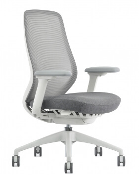 AX Performance Ergonomic White Frame Executive Chair