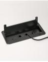 Flip Top Brushed Socket Box For Desk