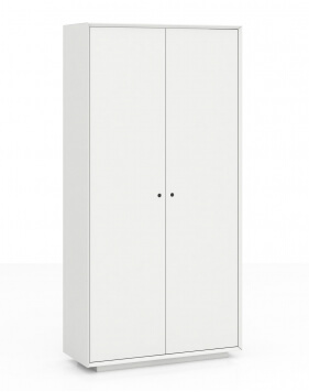 EDGE Series Chamfered Full Height White Cabinet