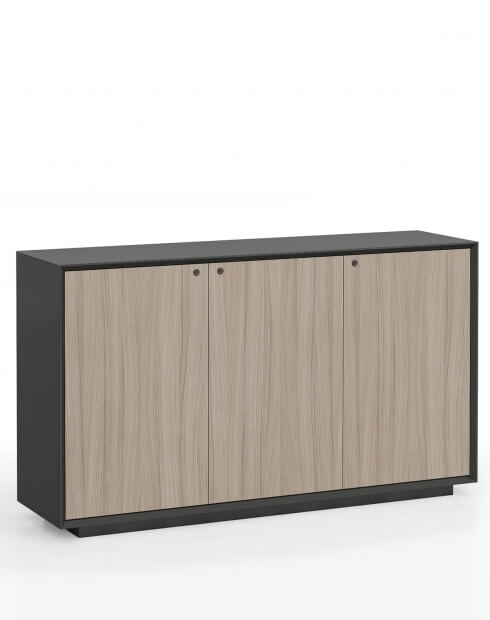 EDGE Series Chamfered Low Height 3 Door Cabinet