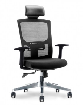 Cover - Newman Black Ergonomic Executive Office Chair