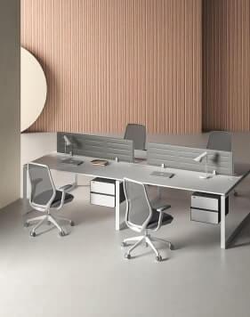 Ace Desk White White