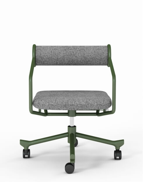 Roller Tube Green Retro Style Chair