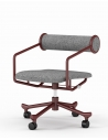 Roller Tube Red Retro Style Chair