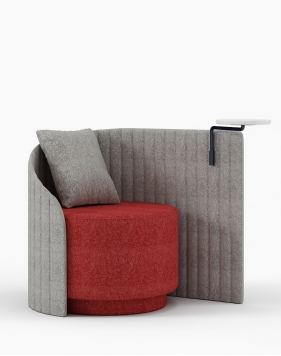 Spare Curved Chair with Writing Tablet
