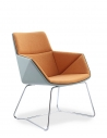 Lido Lounge Chair with Chrome Skid Frame
