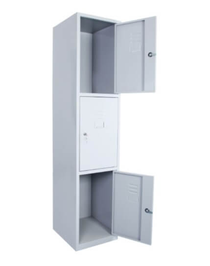 Catena Three Door Steel Cabinet Locker
