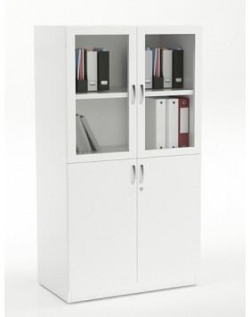 Vetrina Medium Height Custom Made 4-Doors Wooden Cabinet