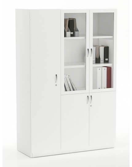 Vetrina Full Height 1+2 Glass Door Filing Cabinet