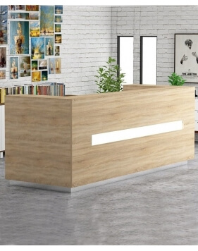 Sada Wooden Contemporary Reception Desk