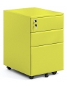 Yellow Color Steel 3-Drawer Filing and Stationary Mobile Pedestal