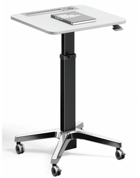 Black-Leo Minimalist Mobile Height Adjustable Table