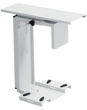 Adjustable Under-Desk CPU Holder with 360 Degree Swivel