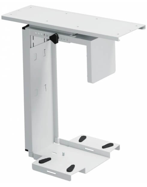 Adjustable Under-Desk CPU Holder with 360 Degree Swivel