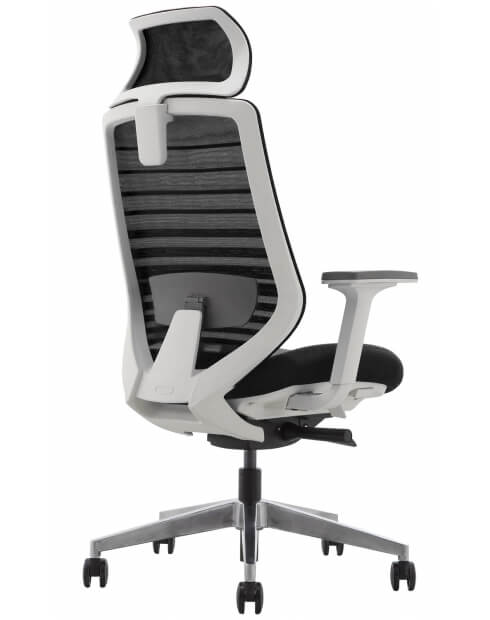 Spirit High Back White Frame Ergonomic Swivel Chair