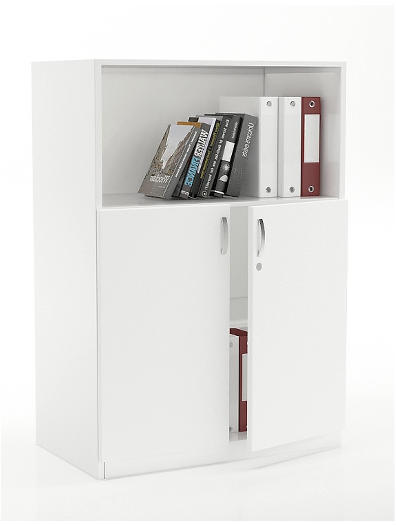 Vetrina Low Height With Open Bookcase Shelf Workspace Furniture