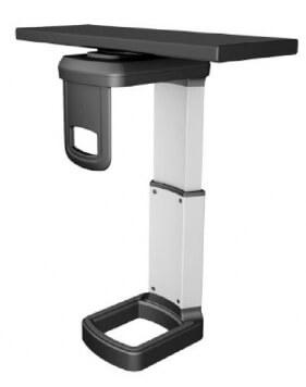 Mini Under-Desk CPU Holder with 360 Degree Swivel