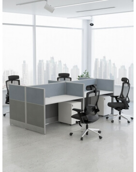 Focus Cluster of 4x Cubicle...