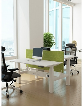 White - Max Series® Cluster of 2x Height Adjustable Workstation Desk