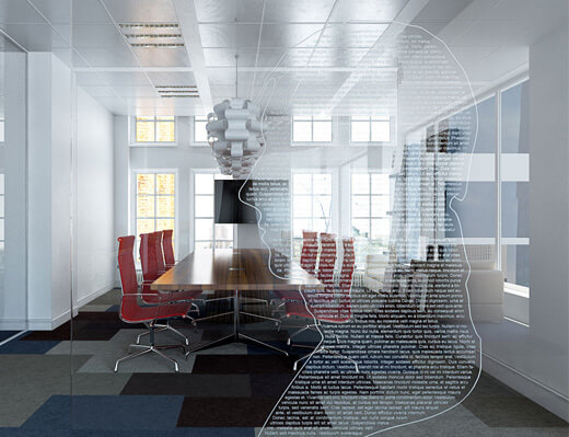 Frosted Glass Installation
